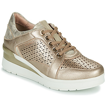 Shoes Women Low top trainers Stonefly CREAM 33 Gold