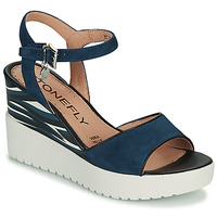 Shoes Women Sandals Stonefly ELY 11 Blue / White