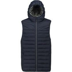 Clothing Men Duffel coats Proact Doudoune sans manches à capuche bleu marine