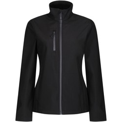 Clothing Women Coats Professional HONESTLY MADE Lightweight Softshell Jacket Black