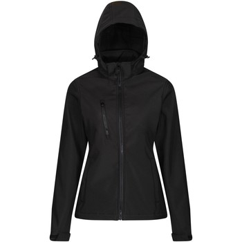 Clothing Women Coats Professional VENTURER Waterproof Softshell Jacket Black