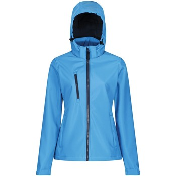 Clothing Women Coats Professional Venturer 3-layer Printable Hooded Softshell Jacket Blue Blue