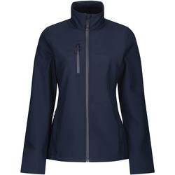 Clothing Women Coats Professional HONESTLY MADE Lightweight Softshell Jacket Seal Grey Blue Blue