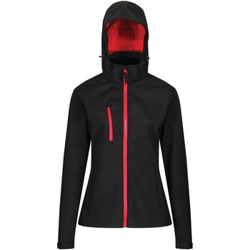 Clothing Women Coats Professional Venturer 3-layer Printable Hooded Softshell Jacket Black Black