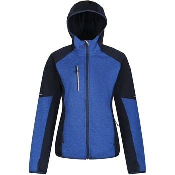 Clothing Women Fleeces Professional X-Pro Coldspring II Hybrid Full Zip Hooded Fleece  Blue Blue