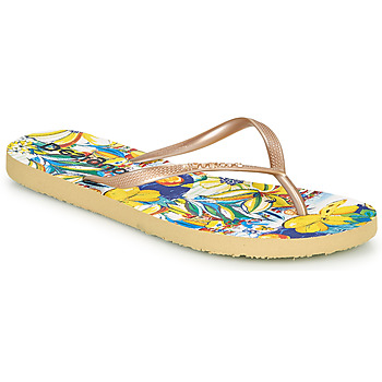 Shoes Women Flip flops Desigual FLIP FLOP TROPICUBAN Gold