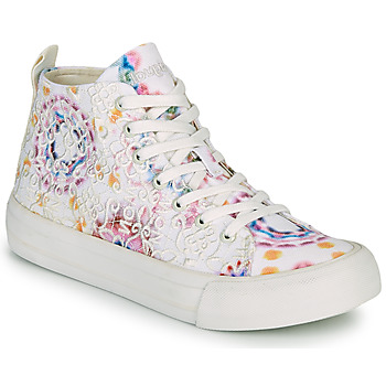 Shoes Women Hi top trainers Desigual BETA LACE TIE DYE White