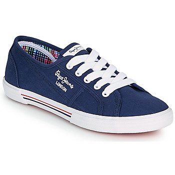 Shoes Women Low top trainers Pepe jeans ABERLADY ECOBASS Marine