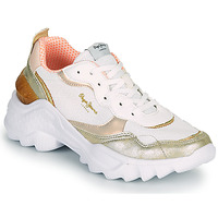 Shoes Women Low top trainers Pepe jeans ECCLES TOP White / Gold