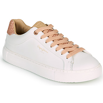 Shoes Women Low top trainers Pepe jeans ADAMS DASS White / Pink