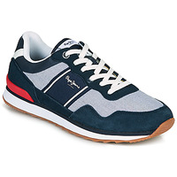 Shoes Men Low top trainers Pepe jeans CROSS 4 SAILOR Marine / Grey