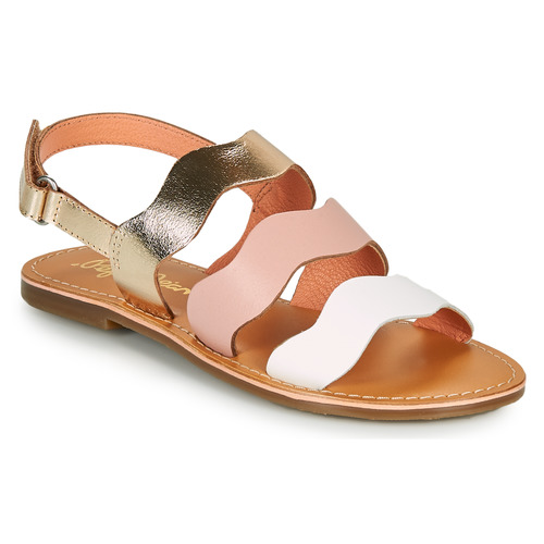 Shoes Girl Sandals Pepe jeans MANDY 3 WAVES Pink