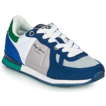 Shoes Boy Low top trainers Pepe jeans SYDNEY BASIC BOY SS21 Blue / Green