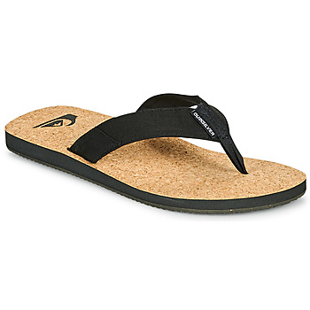 Shoes Men Flip flops Quiksilver MOLOKAI ABYSS NATURAL Black