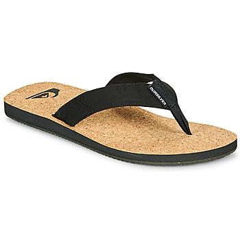 Shoes Men Flip flops Quiksilver MOLOKAI ABYSS NATURAL Black