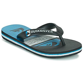 Shoes Children Flip flops Quiksilver MOLOKAI PANEL YOUTH Black / Blue