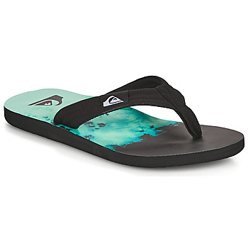 Shoes Men Flip flops Quiksilver MOLOKAI LAYBACK Black / Blue