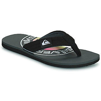 Shoes Men Flip flops Quiksilver MOLOKAI LAYBACK Black / Logo