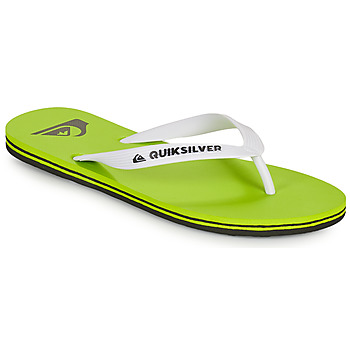 Shoes Men Flip flops Quiksilver MOLOKAI Green / White