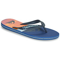 Shoes Men Flip flops Quiksilver MOLOKAI PANEL Blue / Orange / Black
