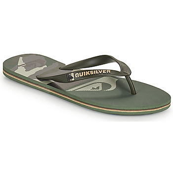 Shoes Men Flip flops Quiksilver MOLOKAI PANEL Kaki