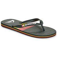 Shoes Men Flip flops Quiksilver MOLOKAI SEASONS Black / Orange