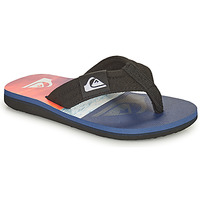 Shoes Children Flip flops Quiksilver MOLOKAI LAYBACK YOUTH Blue / Orange / Black