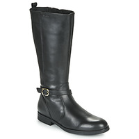Shoes Girl High boots Geox JR AGATA Black