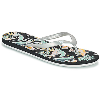 Shoes Women Flip flops Roxy TAHITI VII Silver / Black