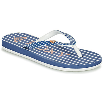 Shoes Girl Flip flops Roxy PEBBLES VII G Marine