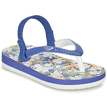 Shoes Girl Flip flops Roxy TW PEBBLES VI Blue