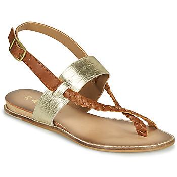 Shoes Women Sandals Ravel LUNA Gold / Camel