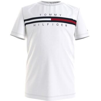 Clothing Boy Short-sleeved t-shirts Tommy Hilfiger KB0KB06532-YBR White