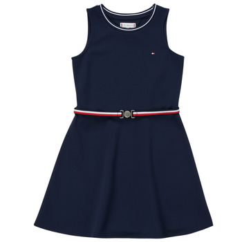 Clothing Girl Short Dresses Tommy Hilfiger RBOJA Marine