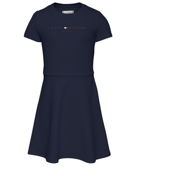 Clothing Girl Short Dresses Tommy Hilfiger KG0KG05789-C87 Marine