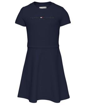 Clothing Girl Short Dresses Tommy Hilfiger KG0KG05789-C87 Marine
