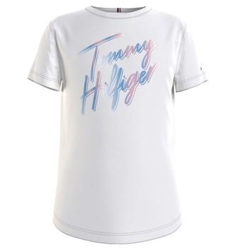 Clothing Girl Short-sleeved t-shirts Tommy Hilfiger KG0KG05870-YBR White