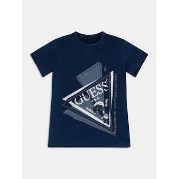 Clothing Boy Short-sleeved t-shirts Guess L1RI15-K8GA0-F233 Blue