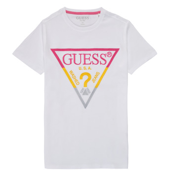 Clothing Boy Short-sleeved t-shirts Guess H1RJ05-K8HM0-P66P White