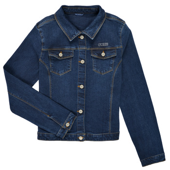 Clothing Girl Denim jackets Guess J81L21-D29H0-BMEW Blue