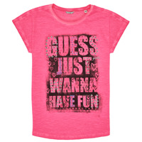 Clothing Girl Short-sleeved t-shirts Guess J1RI00-K6XN0-G607 Pink