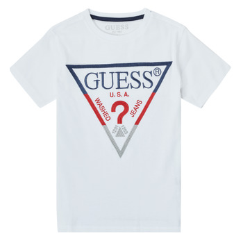 Clothing Boy Short-sleeved t-shirts Guess H1RT06-K8HM0-TWHT White