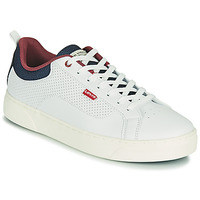 Shoes Men Low top trainers Levi's CAPLES 2.0 White / Blue / Red