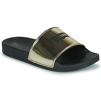 Shoes Women Sliders Levi's JUNE BATWING S Gold / Black