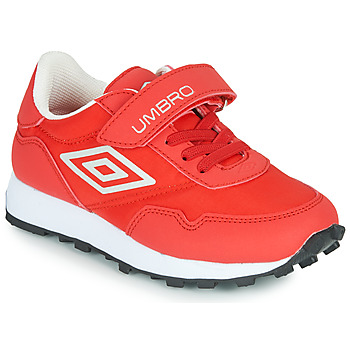 Shoes Children Low top trainers Umbro KARTS VLC Red / White
