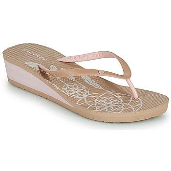 Shoes Women Flip flops Isotoner FRADA Beige