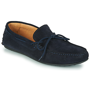 Shoes Men Loafers Selected SERGIO DRIVE SUEDE Marine