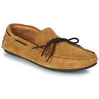 Shoes Men Loafers Selected SERGIO DRIVE SUEDE Cognac