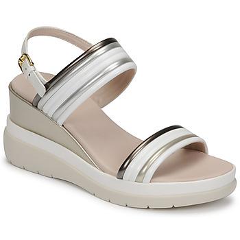 Shoes Women Sandals Lumberjack ELAINE White / Beige