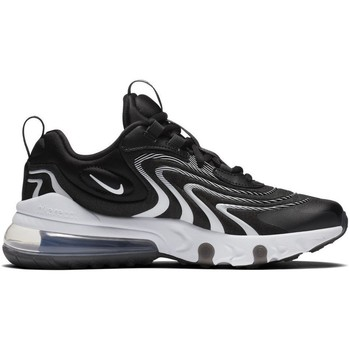 Shoes Children Low top trainers Nike Air Max 270 React Eng GS White,Black